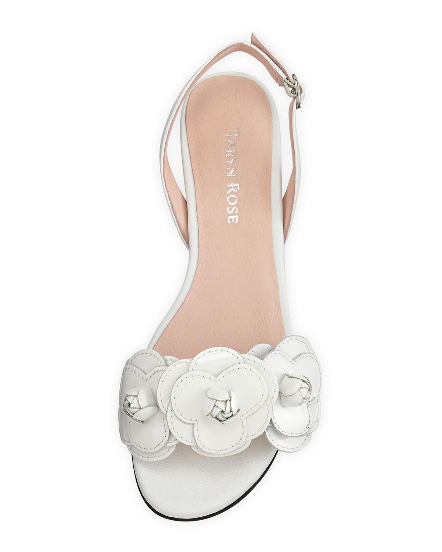 Lyst Taryn Rose Ida Flower Slingback Sandal In White