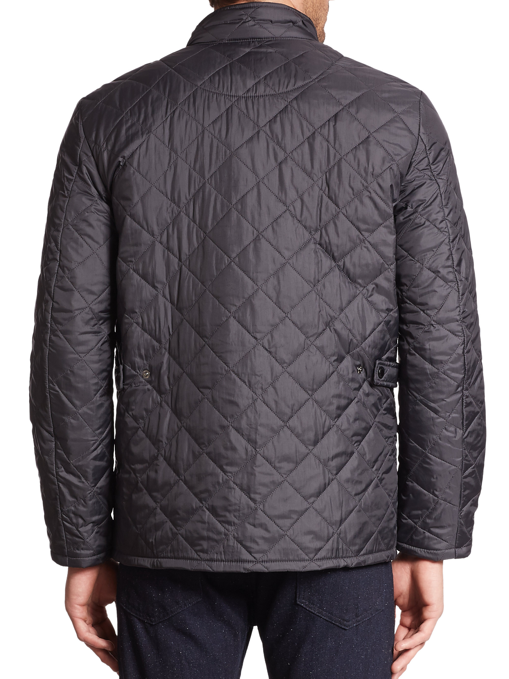 Barbour Flyweight Quilted Jacket In Blue For Men Lyst