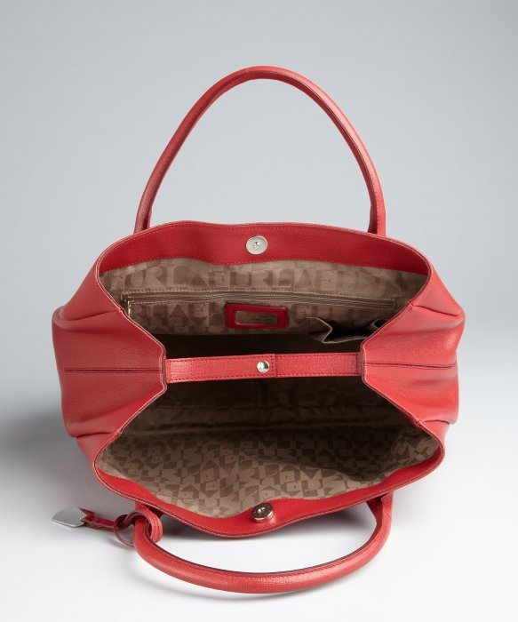 Furla Red Leather New Giselle Shopper Tote in Red   Lyst