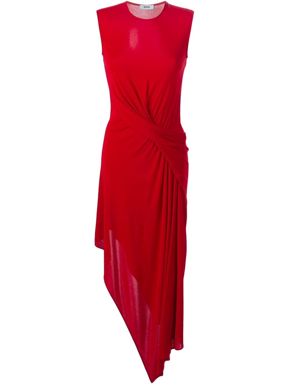 Lyst Issa Tania Asymmetric Dress In Red