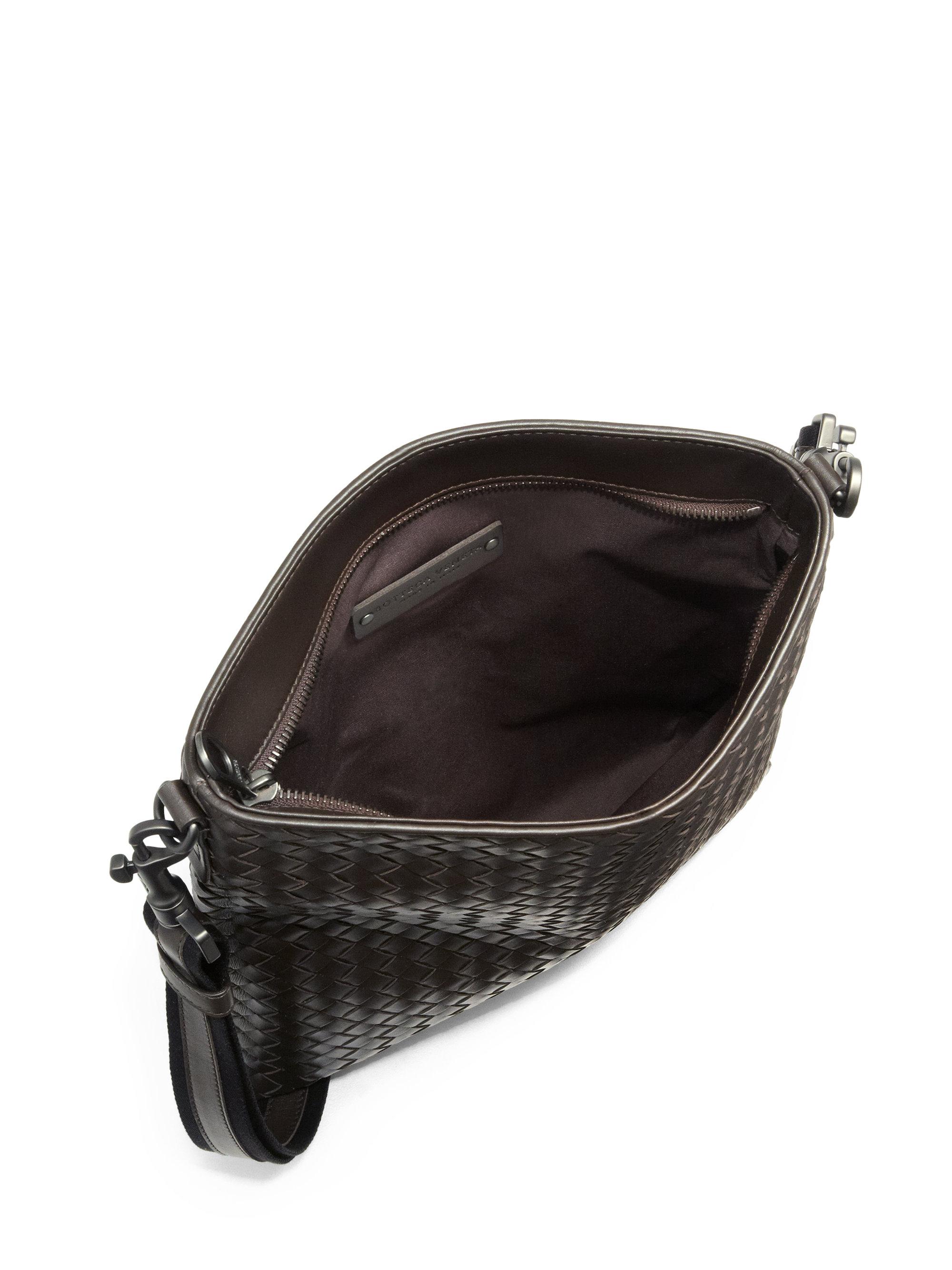 Bottega Veneta Borsa Intrecciato Leather Crossbody Bag In