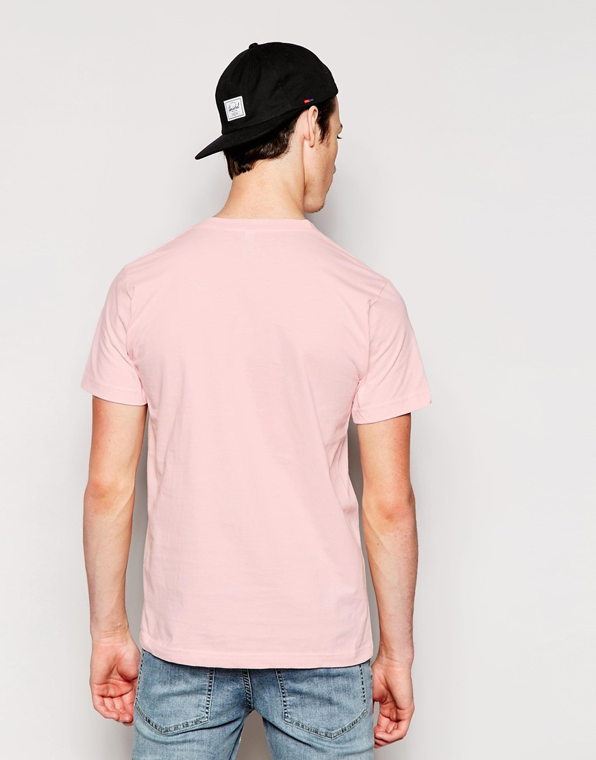 American apparel Fine Jersey T-shirt in Pink for Men | Lyst