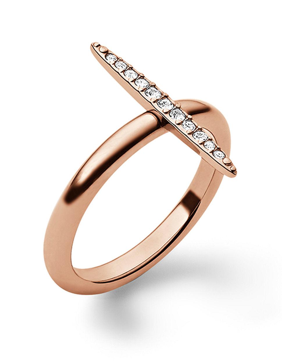 michael kors rose goldtone crystal pav matchstick ring in. Black Bedroom Furniture Sets. Home Design Ideas