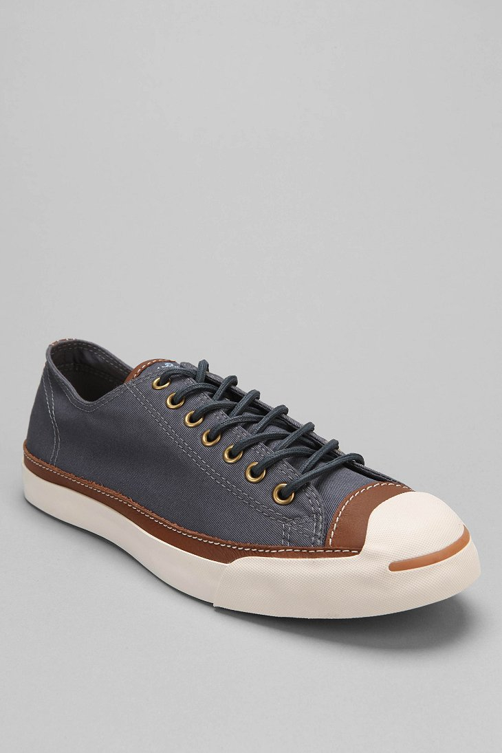 2542869c1ec9 Lyst - Converse Jack Purcell Textile Leather Sneaker in Blue for Men
