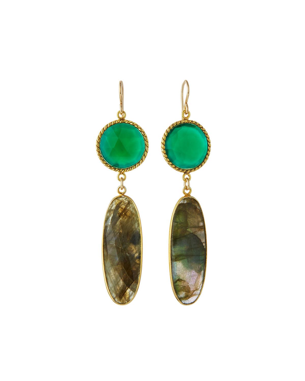 Devon Leigh Green Jade Pear Drop Earrings R78t3S0OX
