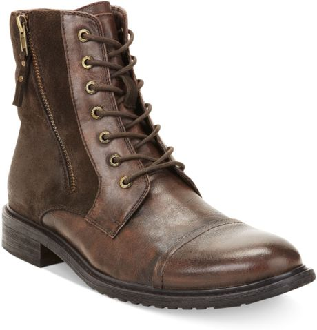 Kenneth Cole Reaction Hit Men Captoe Boots In Brown For