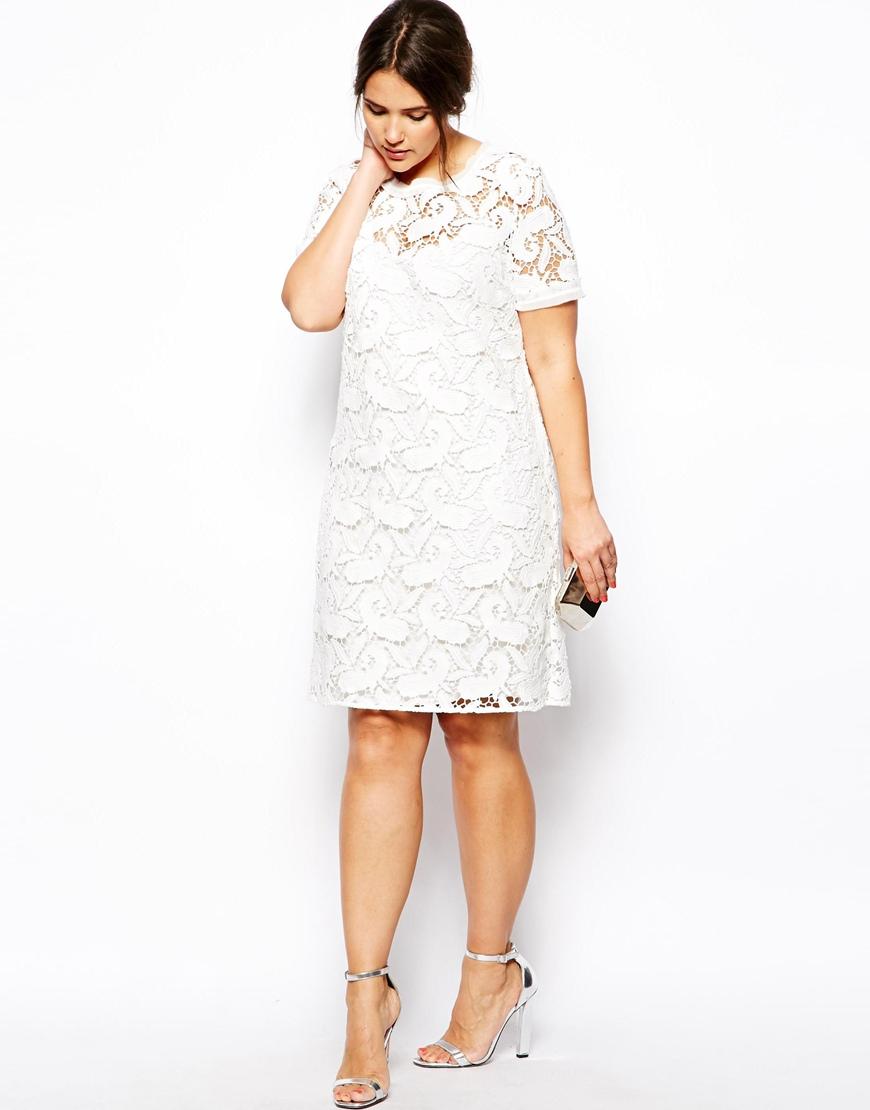 Asos premium shift dress in lace