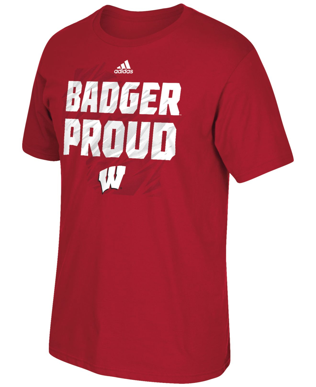 Adidas Men 39 S Wisconsin Badgers Sideline Glory T Shirt In