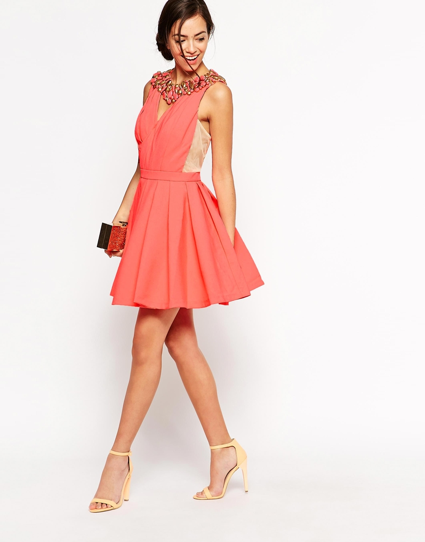 951dfdd102aa Lyst - Forever Unique Caitlin Skater Dress in Pink