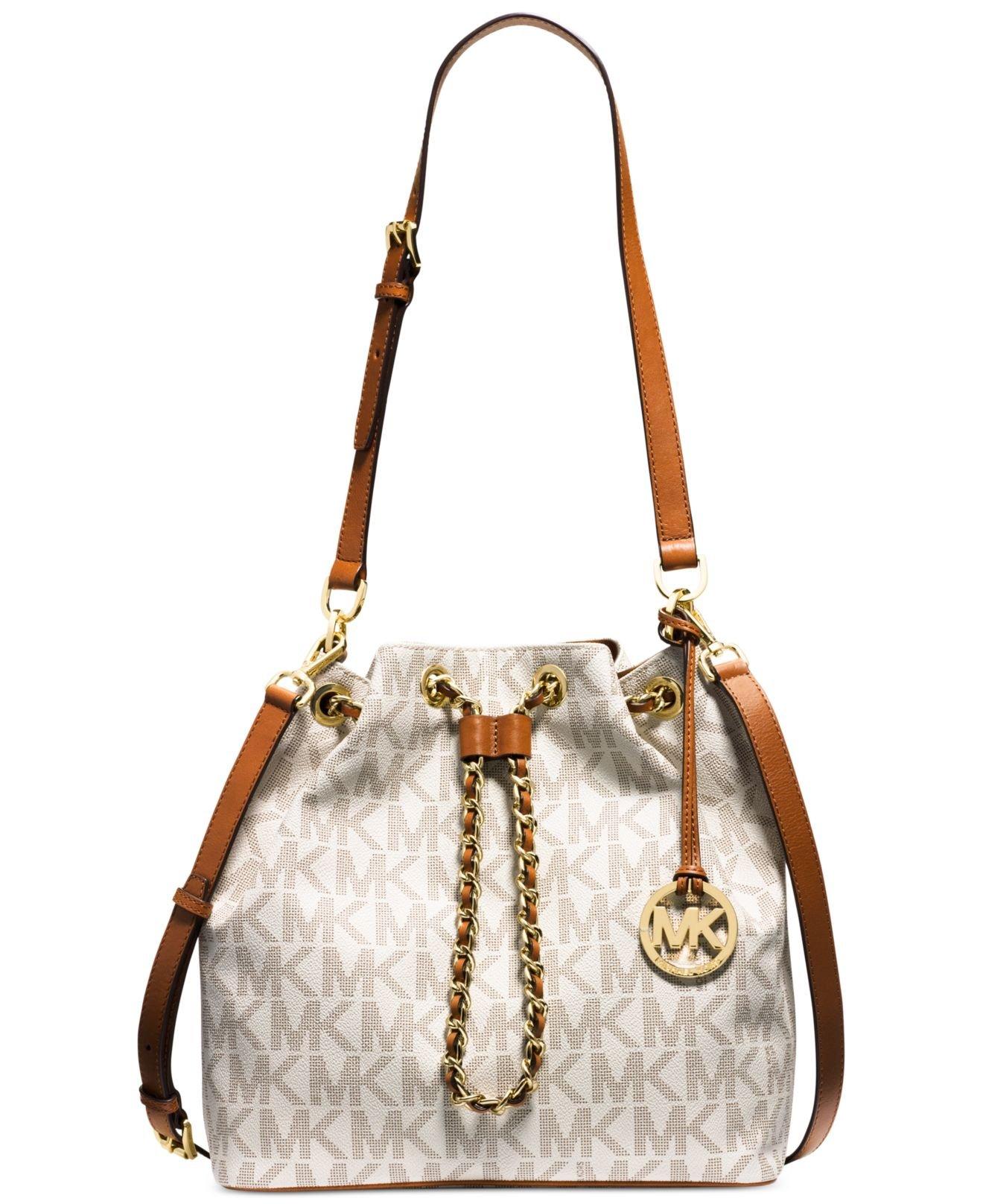 8ea99eedb8cd53 ireland michael kors chain drawstring bag price f0ece 682a0
