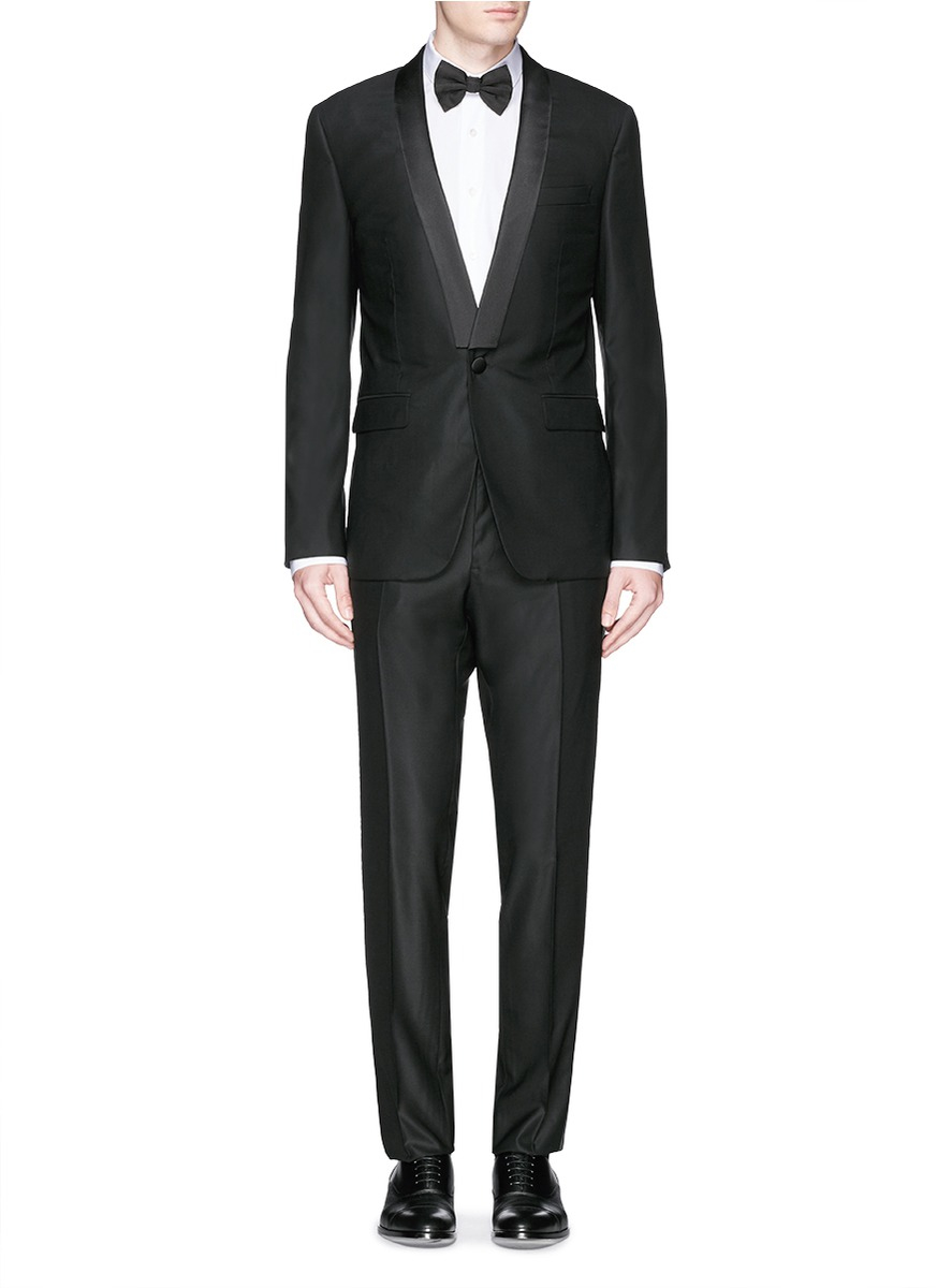 Lyst Givenchy Satin Shawl Lapel Tuxedo Suit In Black For Men