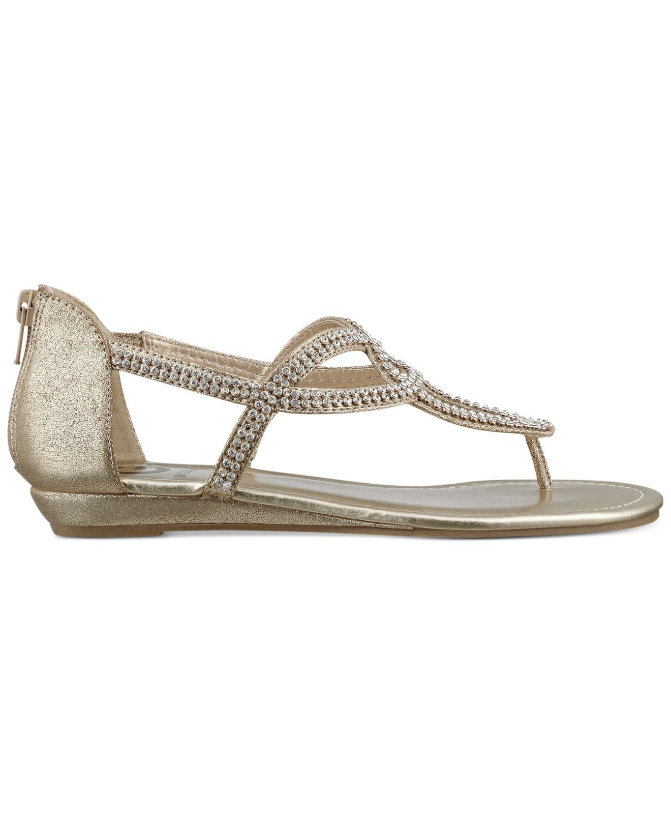 a9283eebfb519 Lyst - G by Guess Women S Jamila Rhinestone Flat Thong Sandals in ...