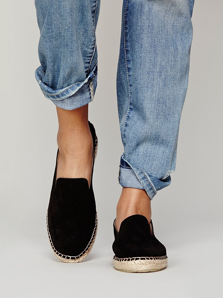 Free People Womens Canyon Espadrille In Black Lyst