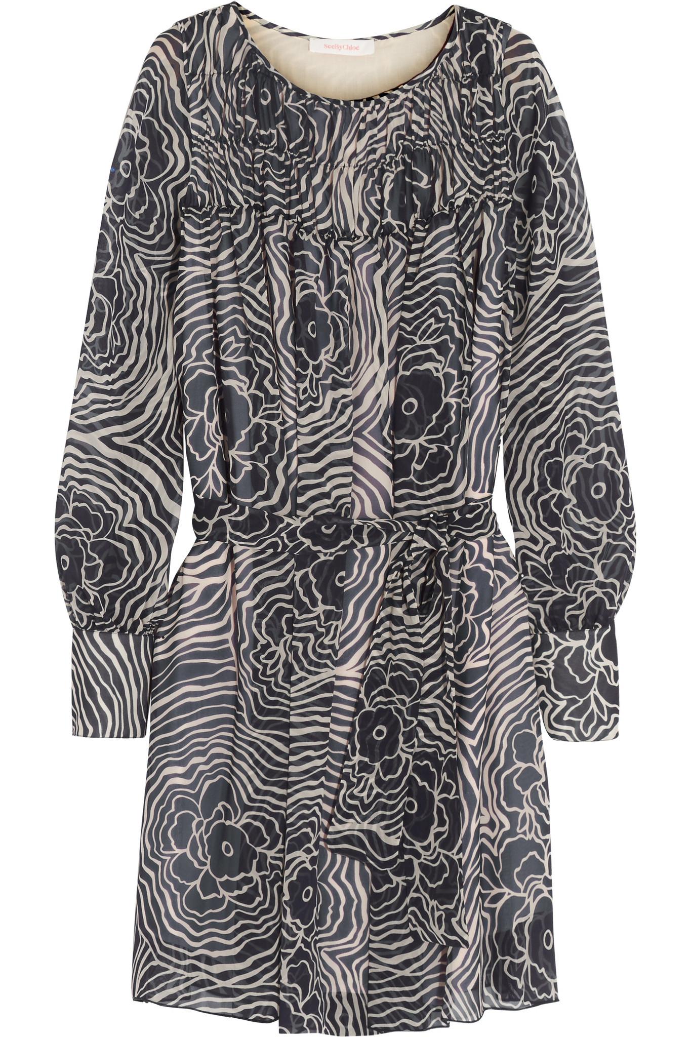 3af70afaf77 Chloe Navy Silk Dress