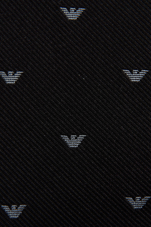 Lyst emporio armani silk tie with all over logo in black - Emporio giorgio armani logo ...