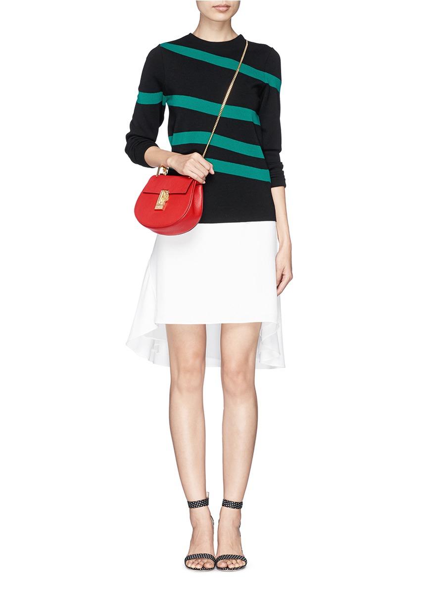 chloe black handbag - Chlo�� \u0026#39;drew\u0026#39; Mini Grainy Leather Shoulder Bag in Red | Lyst