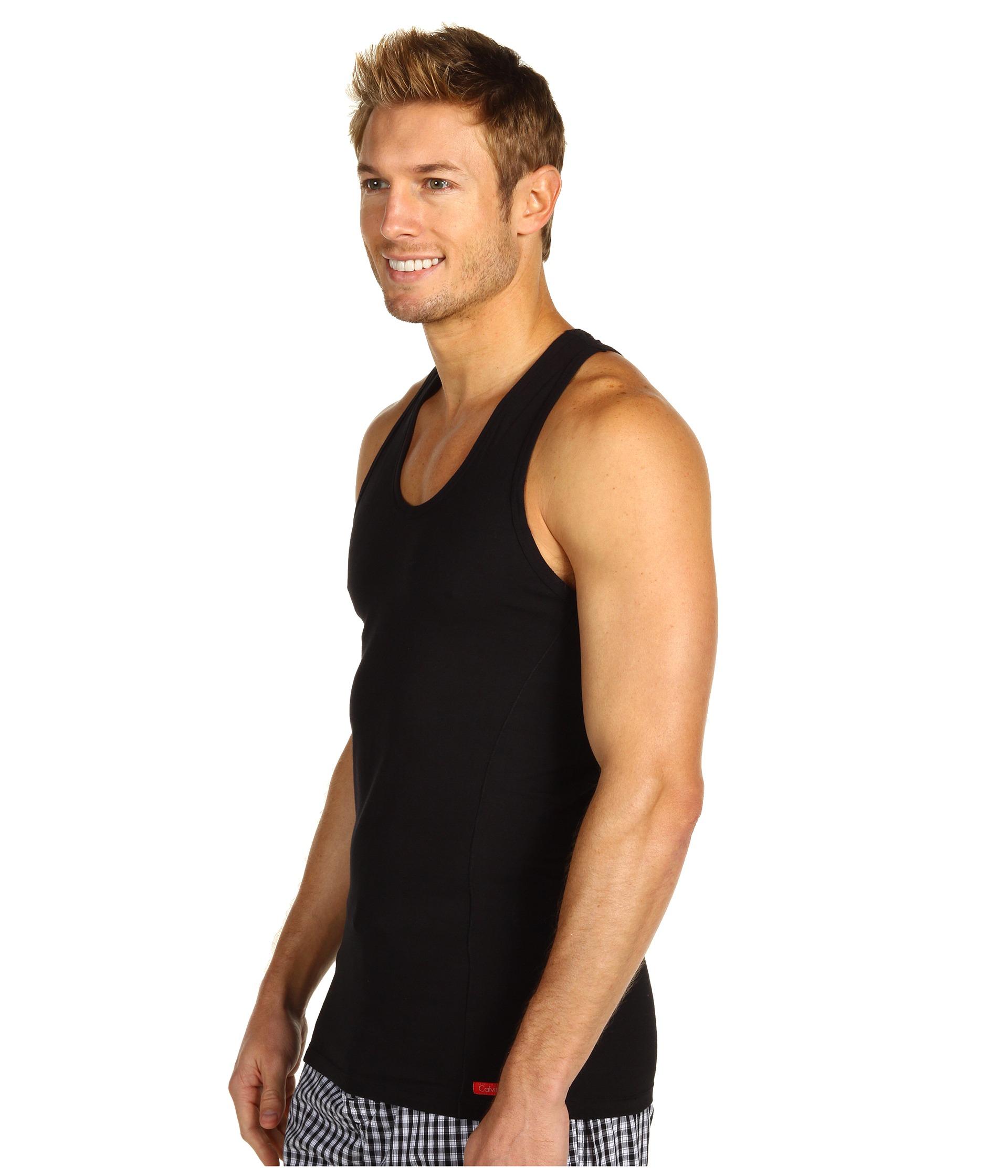 cbb59b3336cd6 Lyst - Calvin Klein Pro Stretch Slim Fit Tank in Black for Men