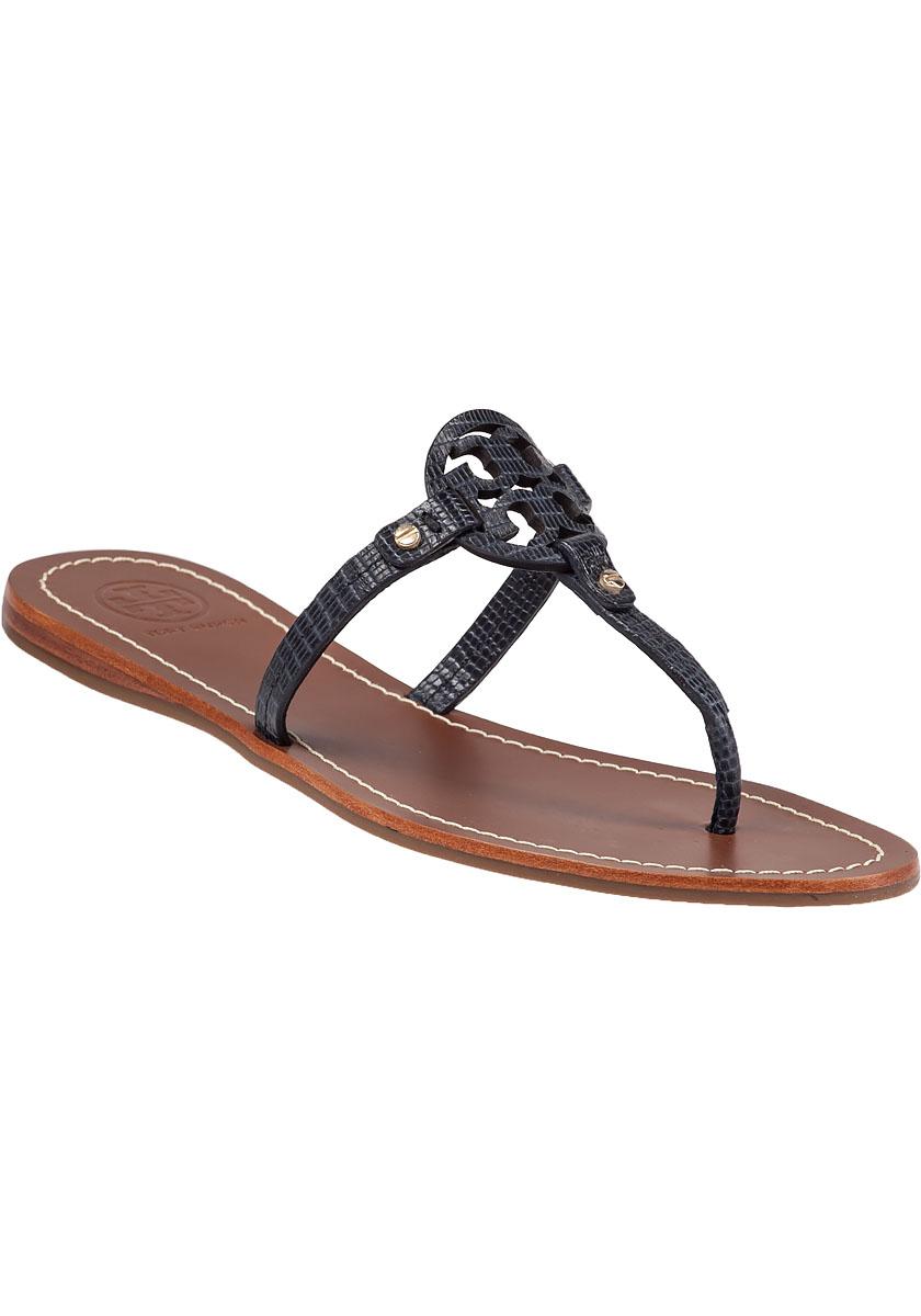 Gallery - Tory Burch Mini Miller Flat Sandals In Blue Lyst