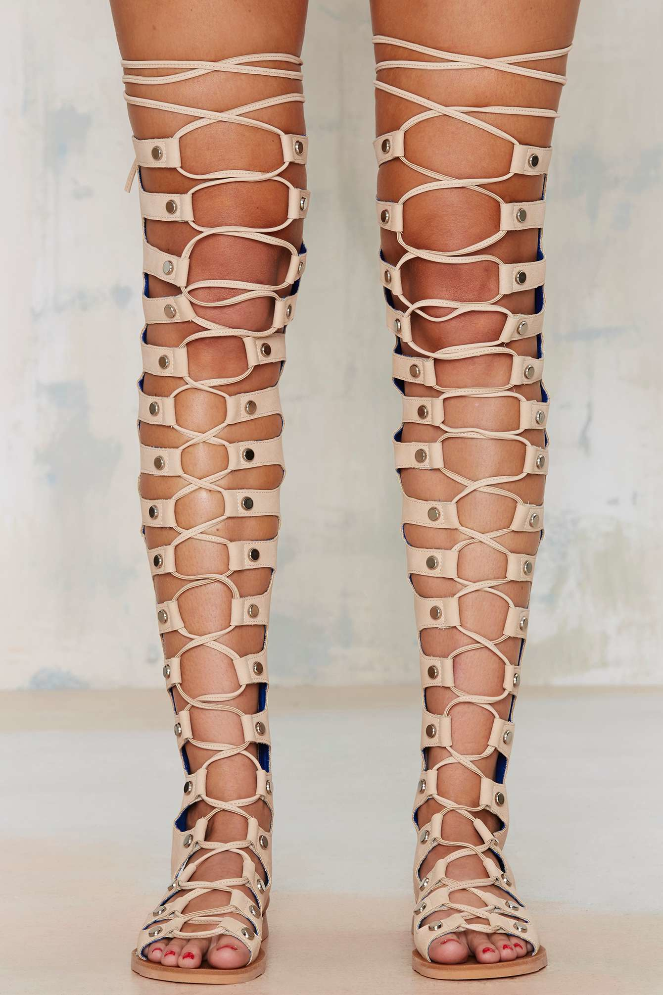 Lyst Jeffrey Campbell Olympus Leather Gladiator Sandal