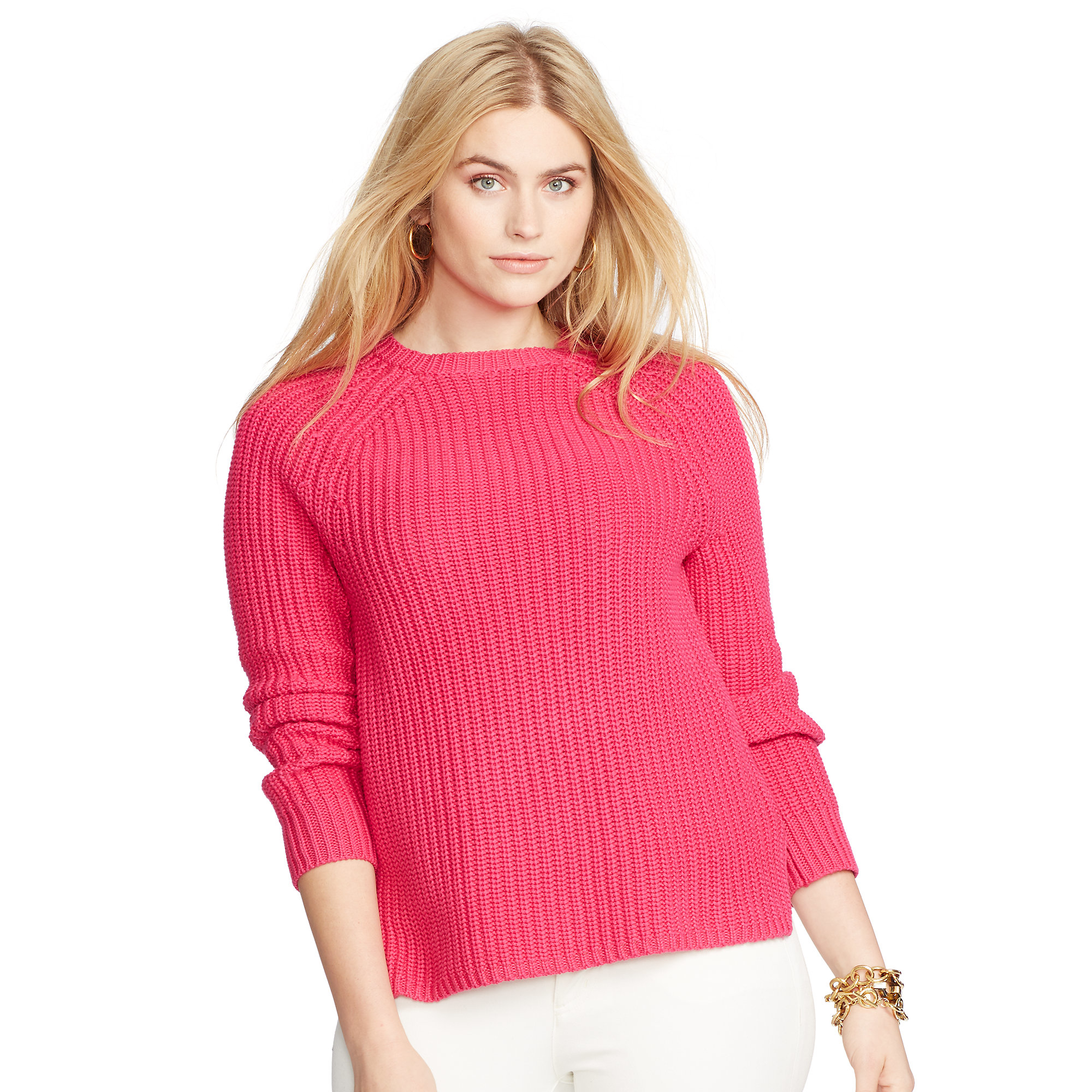 Pink pony Cotton Raglan Sweater in Pink | Lyst