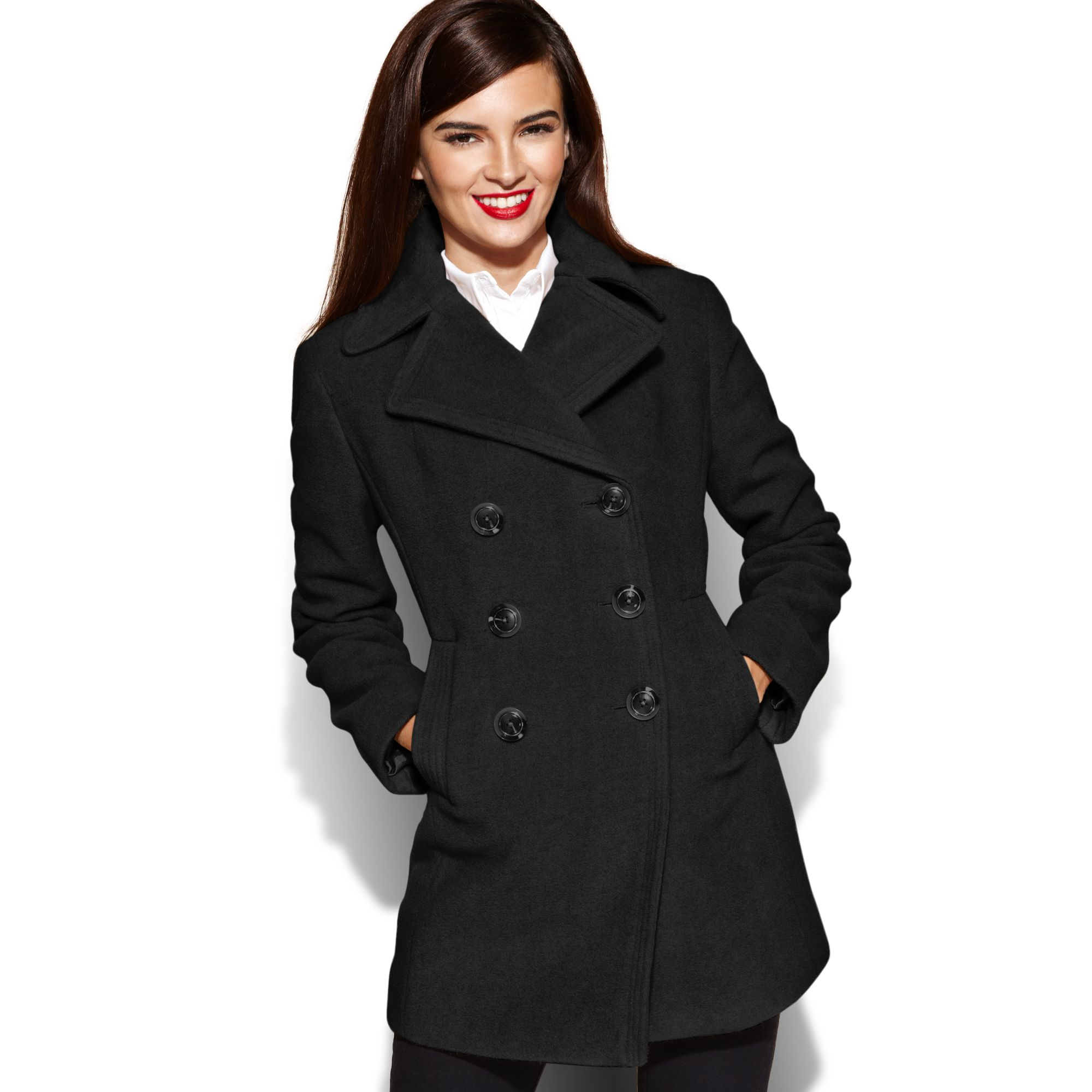 Long Double Breasted Wool Coat: Coat provides gorgeous shape thanks to the A-line silhouette and front and back jomp16.tk-button closure with concealed interior button for a better fit. Side slit pockets (sewn closed like all finely tailored garments).