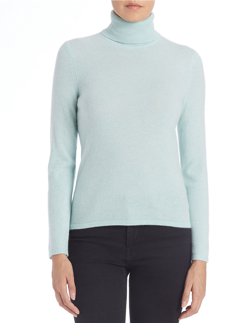 Lord & taylor Cashmere Turtleneck Sweater | Lyst