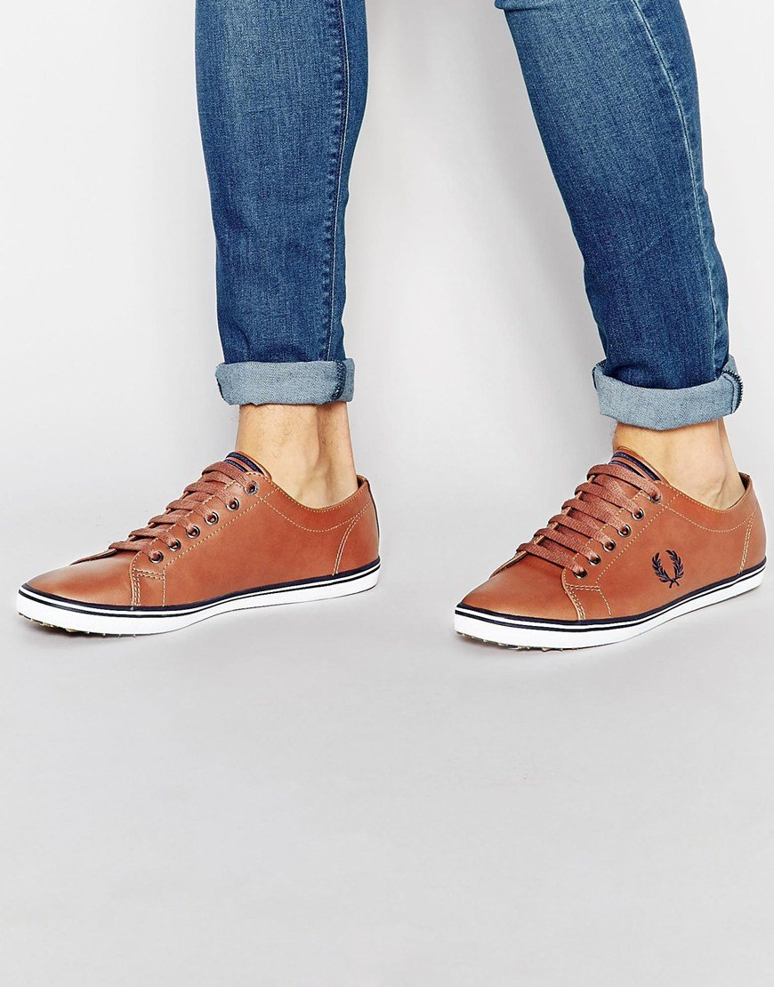 Fred Perry Kingston Leather Sneakers In
