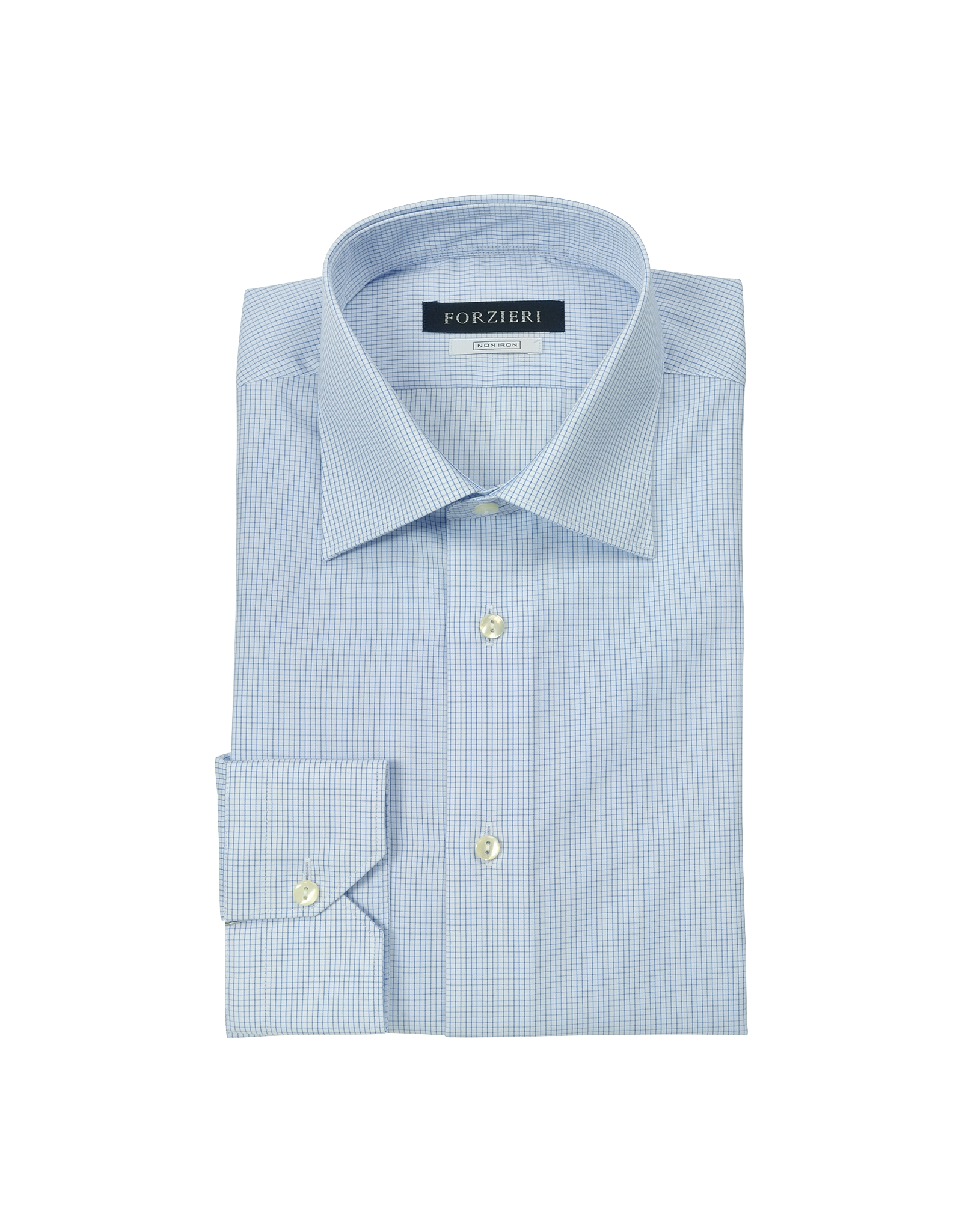Lyst forzieri micro checked non iron cotton dress shirt for White non iron dress shirts