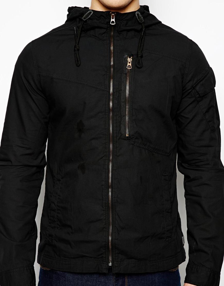 lyst g star raw g star hooded overshirt jacket franklin. Black Bedroom Furniture Sets. Home Design Ideas