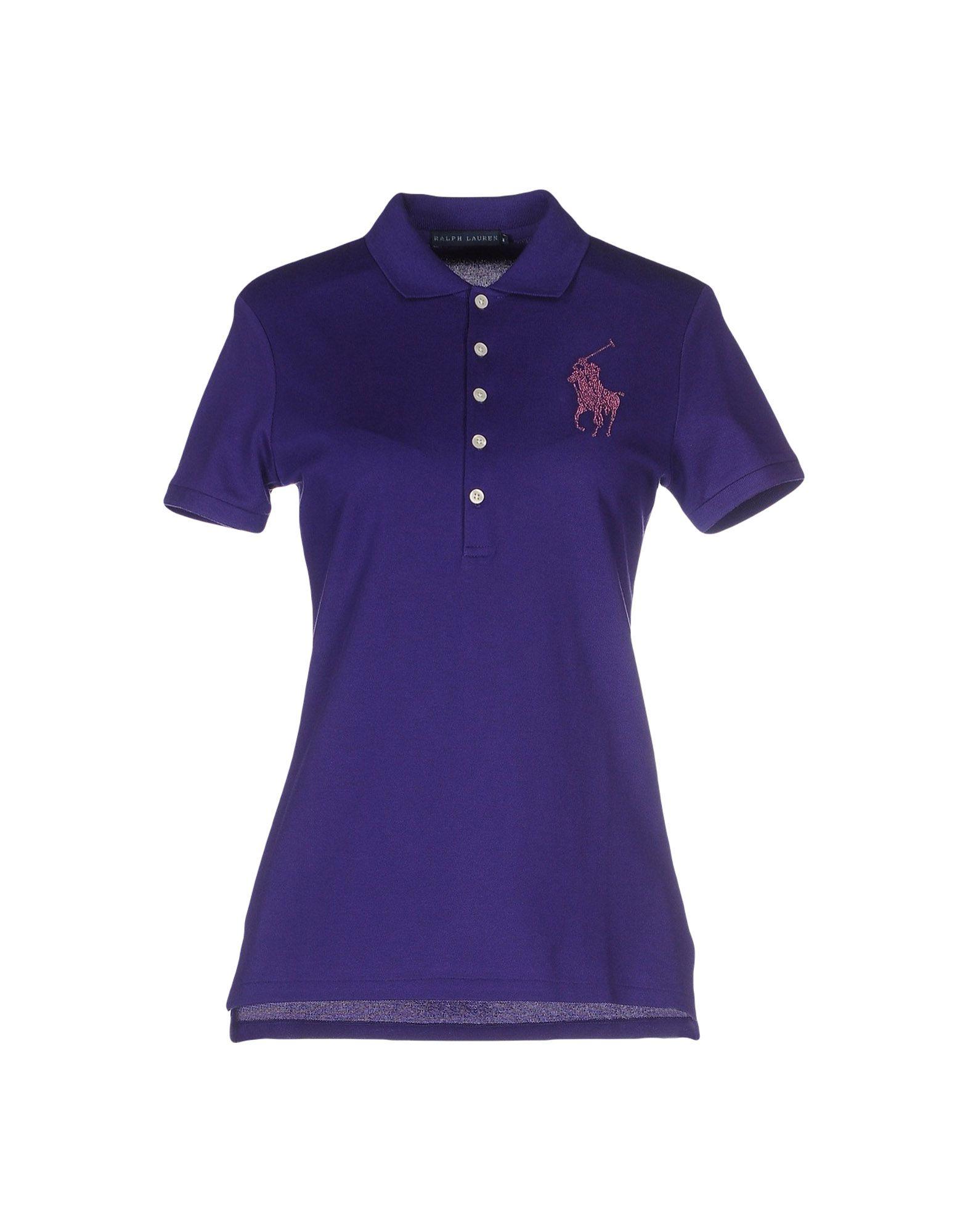 Pink pony polo shirt in purple lyst for Black ralph lauren shirt purple horse