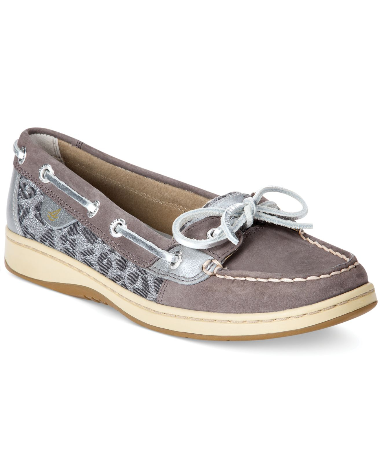 Lyst Sperry Top Sider Women S Angelfish Boat Shoes in Gray