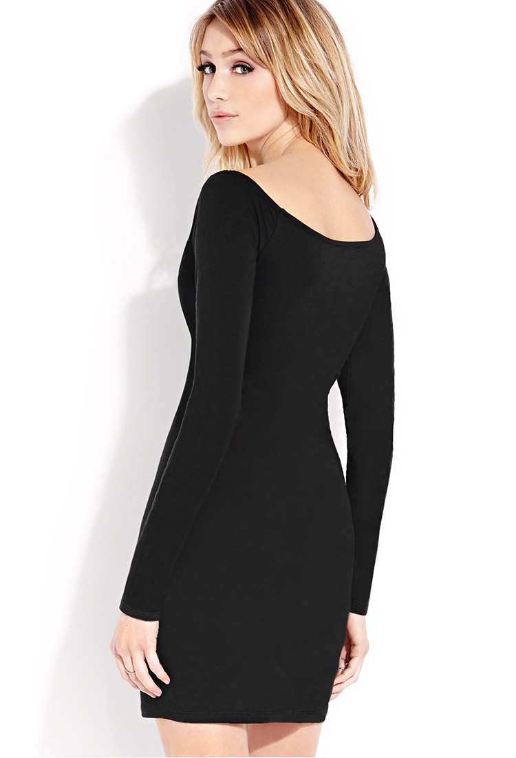Forever 21 Standout Bodycon Dress in Black | Lyst
