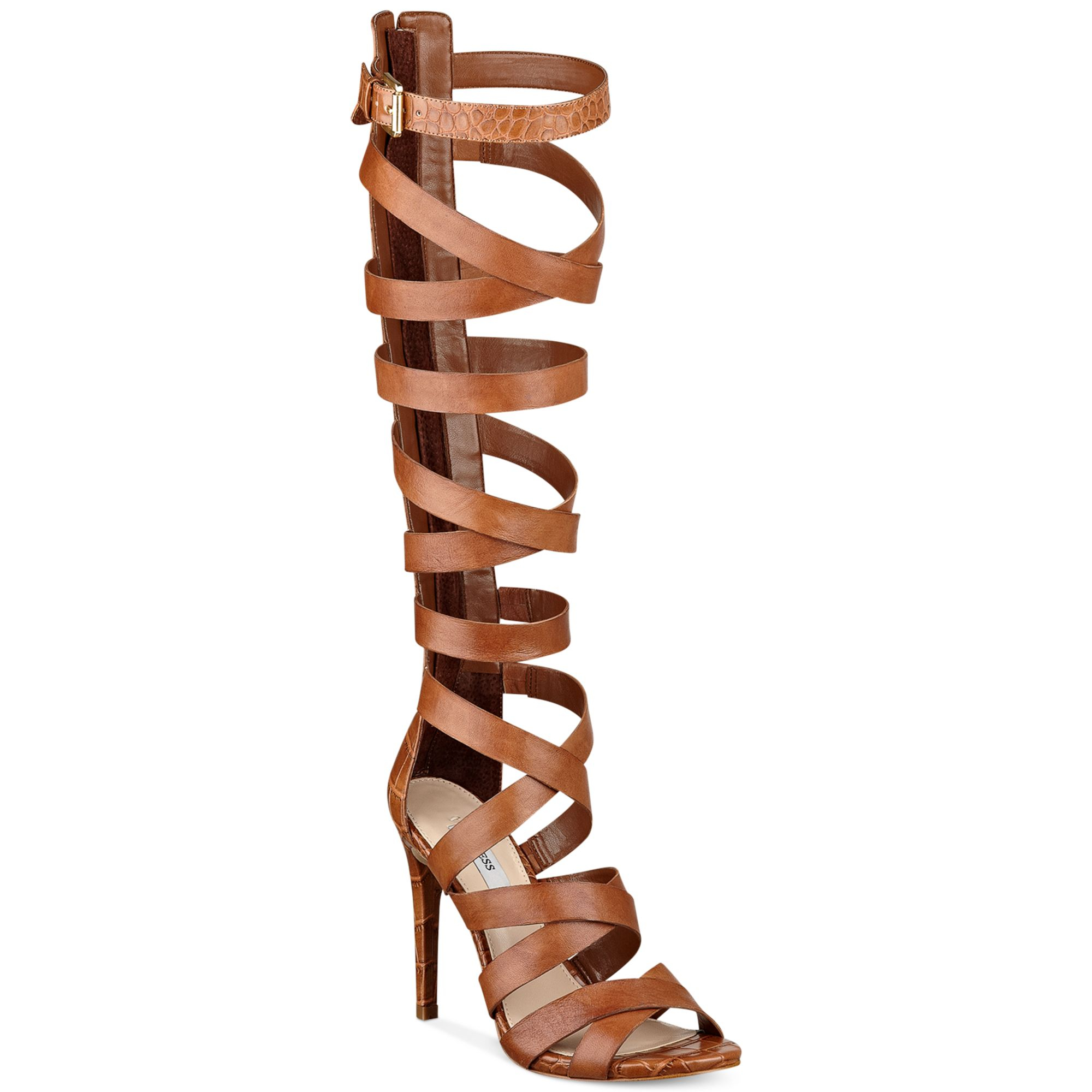Guess Chrina Tall Gladiator Sandals In Brown Lyst