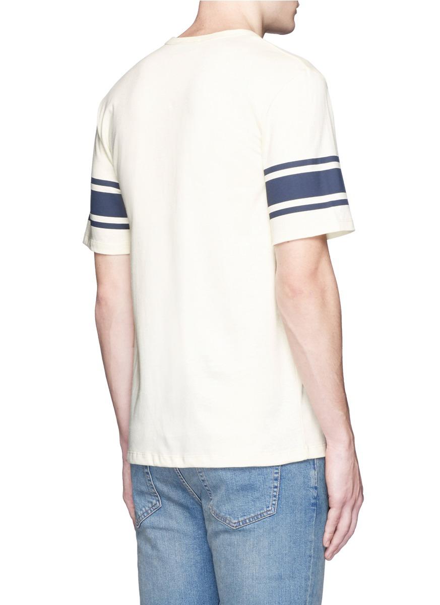 Maison Kitsun 39 I Need 39 Slogan Print Jersey T Shirt For