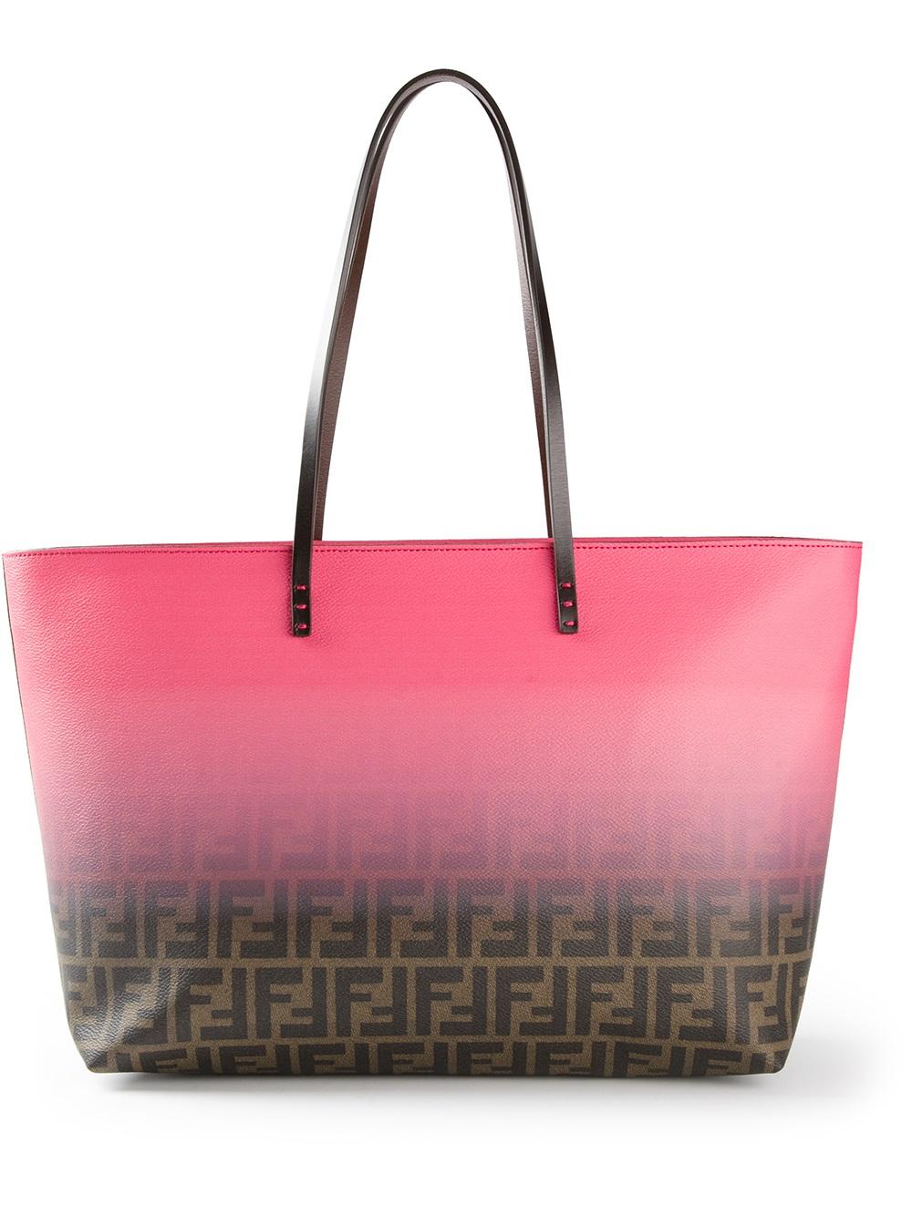 Fendi Zucca Shopper Tote in Pink - Lyst f738236e024e0