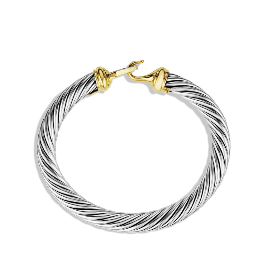 Lyst david yurman cable buckle bracelet with diamonds for David yurman inspired bracelet cable