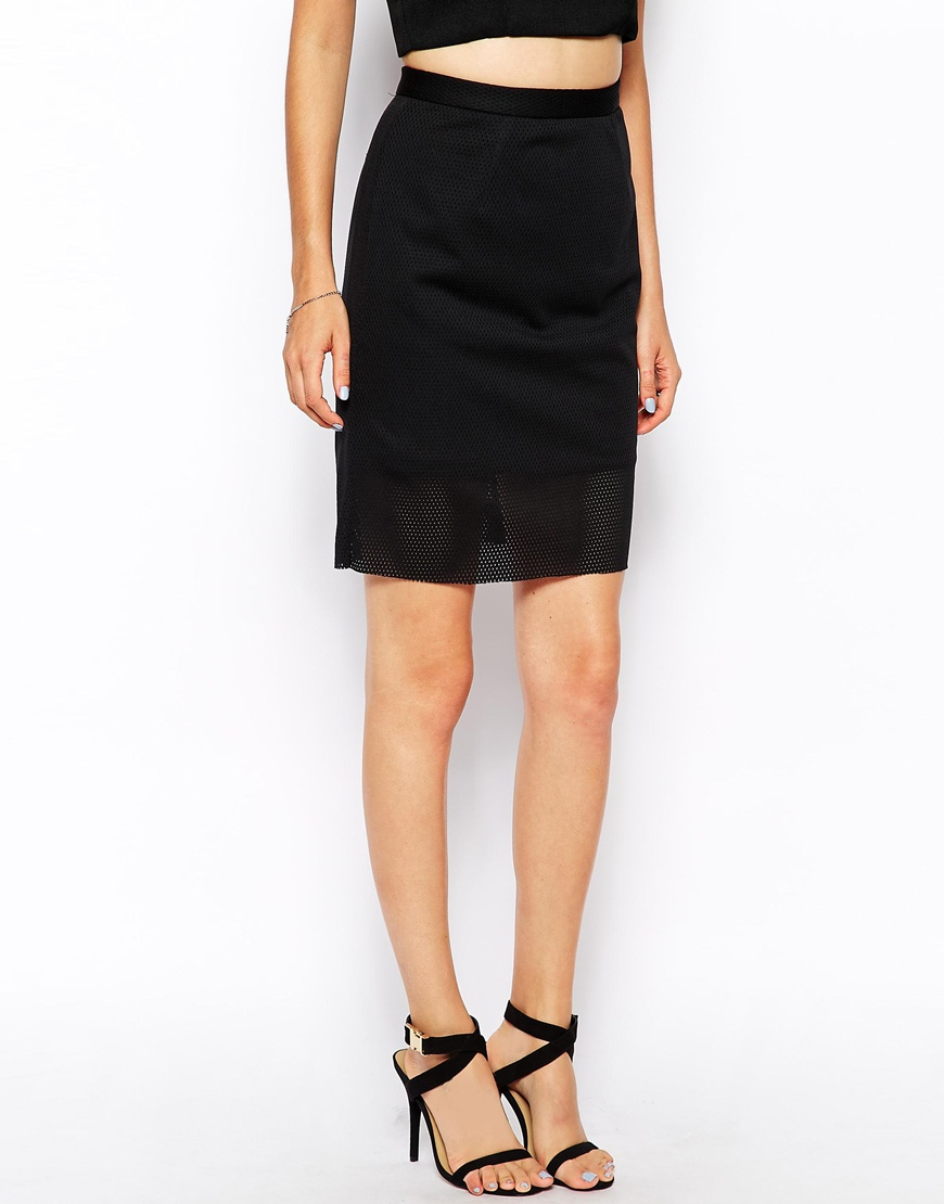 aaa4a4d31de Lyst - Finders Keepers Starting Over Pencil Skirt in Black