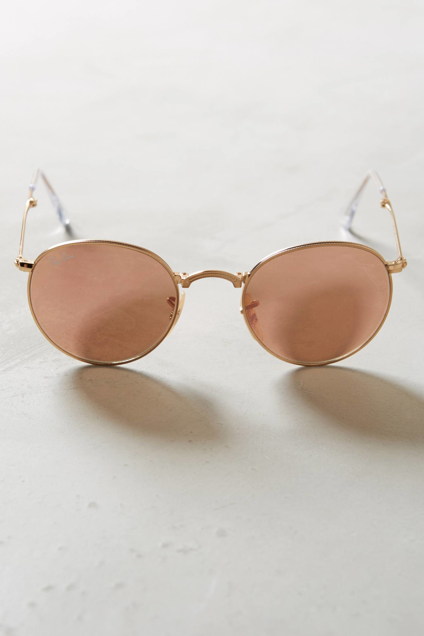 Ray-ban Round Folding Sunglasses in Pink