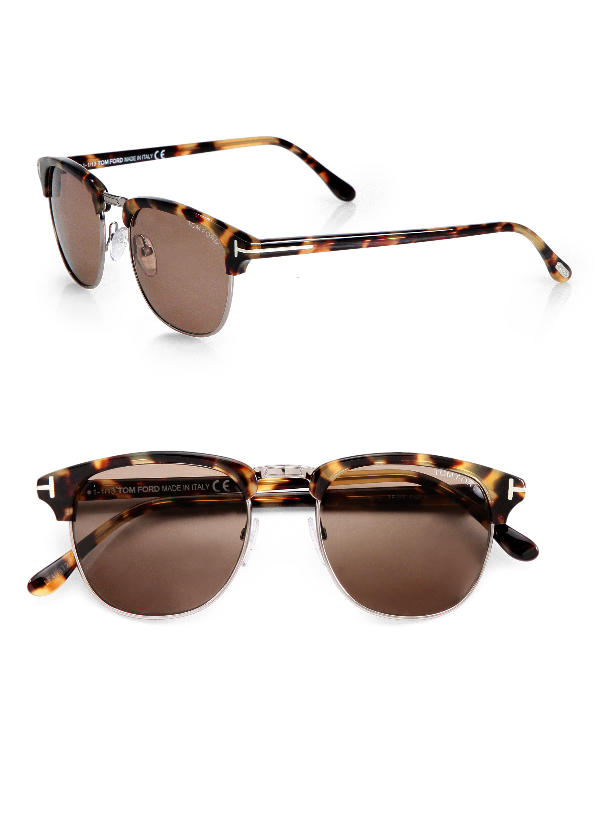 lyst tom ford henry retro sunglasses in brown for men. Black Bedroom Furniture Sets. Home Design Ideas