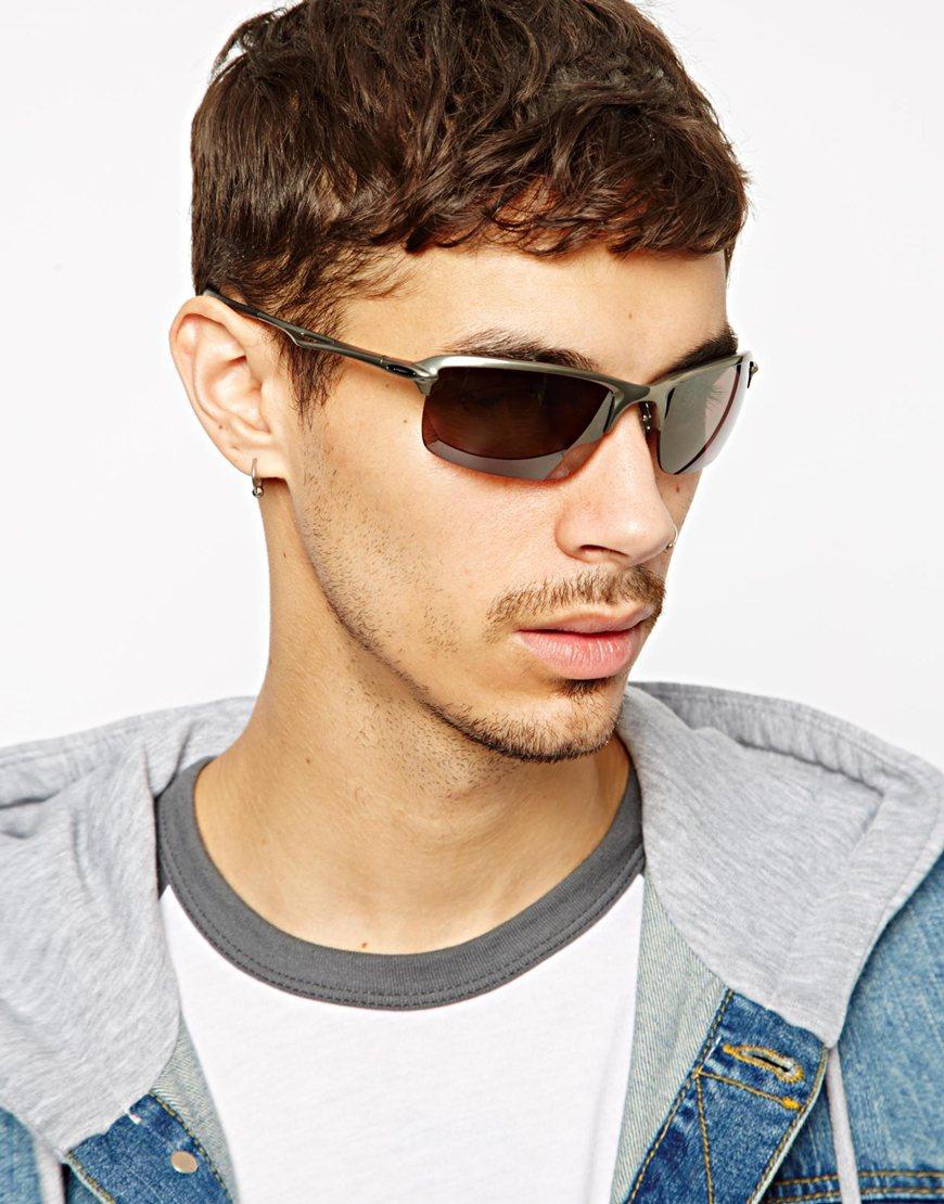 0edf114b64 Lyst - Oakley Wiretap Polarized Sunglasses in Gray for Men