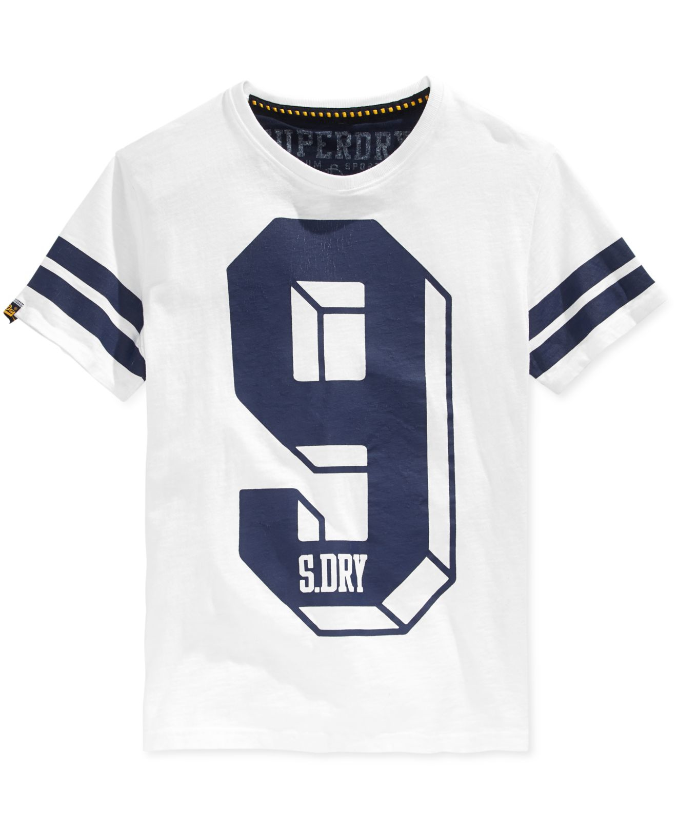 Lyst Superdry Mens Big Number Graphic Print T Shirt In White For Men