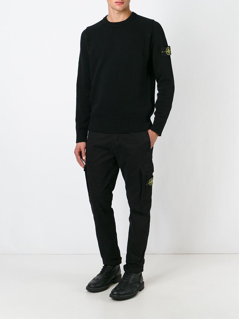 Stone island Cargo Trousers in Black for Men | Lyst