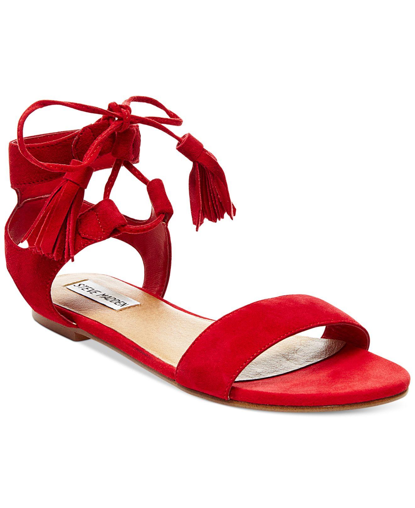 Red In Jgqsmpvluz Lyst Women's Daryyn Sandals Strappy Steve Madden ZXPuki