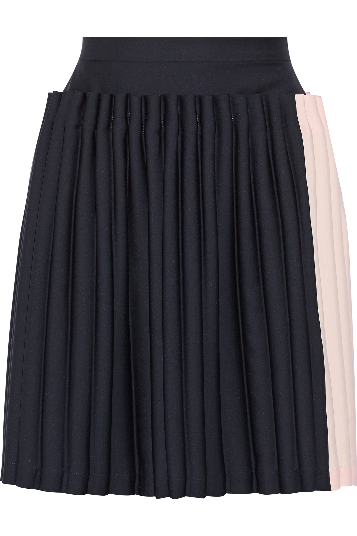 opening ceremony two tone pleated cady skirt in blue lyst