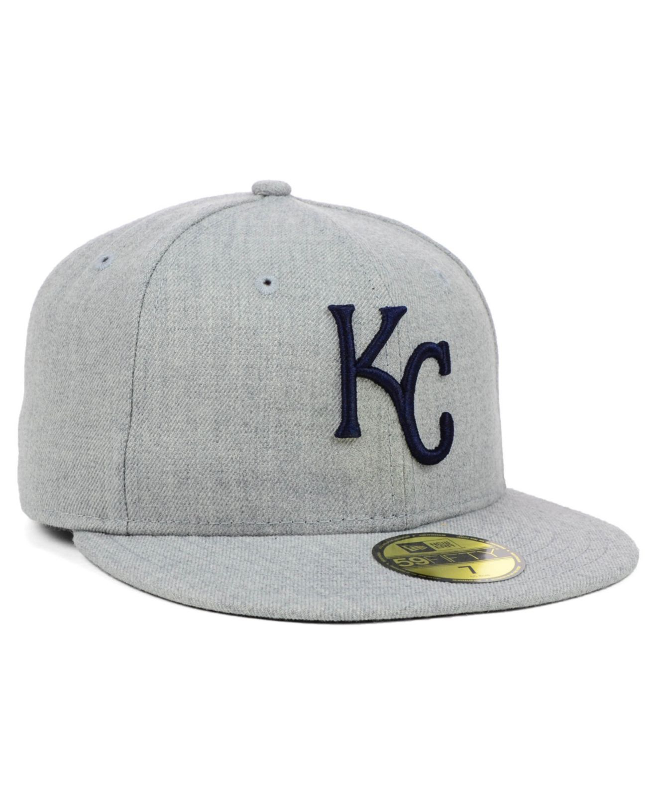 reputable site d1716 40c98 KTZ Kansas City Royals Mlb Heather Basic 59Fifty Cap in Gray for Men ...