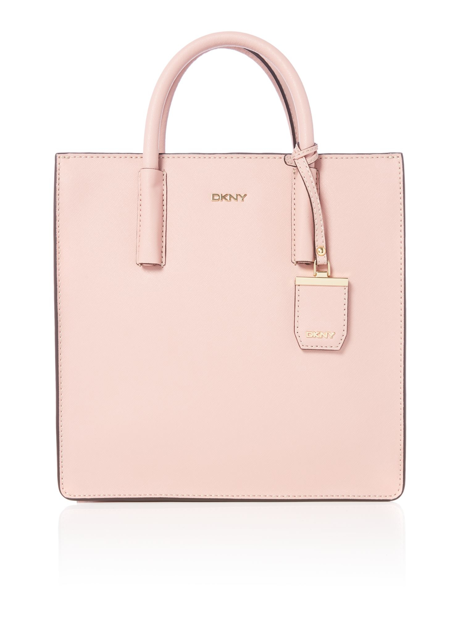 dkny saffiano light pink tote bag in pink lyst. Black Bedroom Furniture Sets. Home Design Ideas