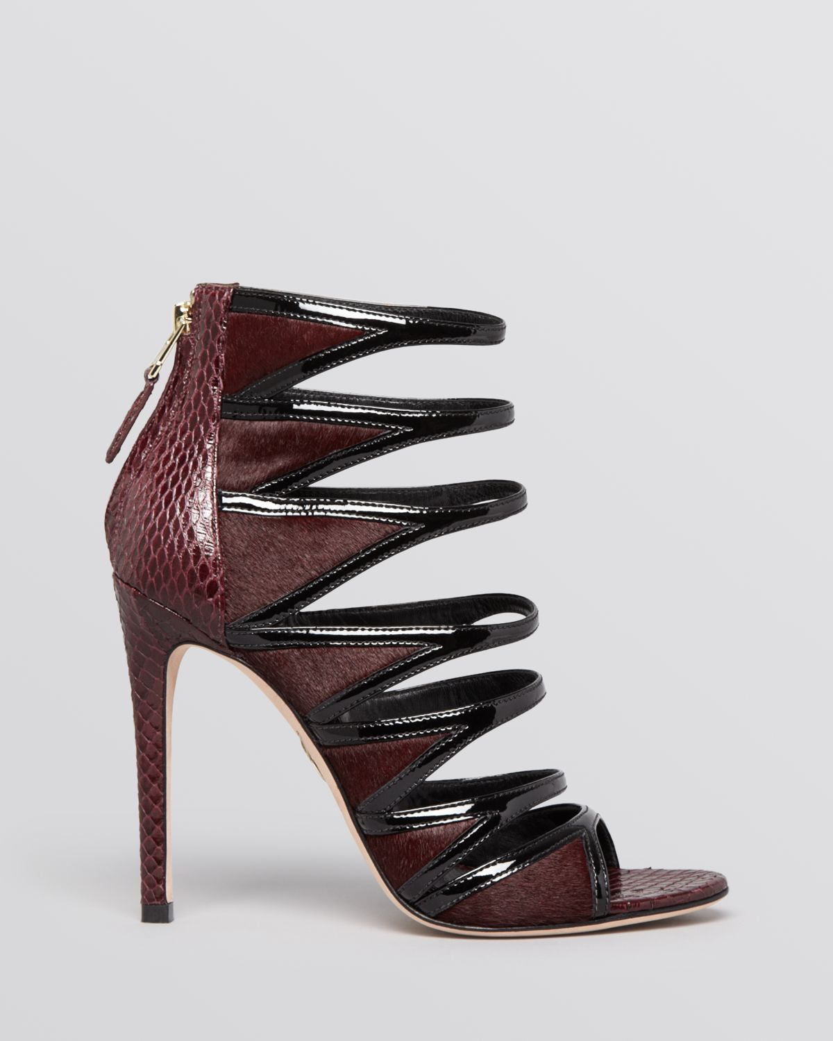 Lyst - B brian atwood Open Toe Strappy Evening Sandals - Lynnden ...
