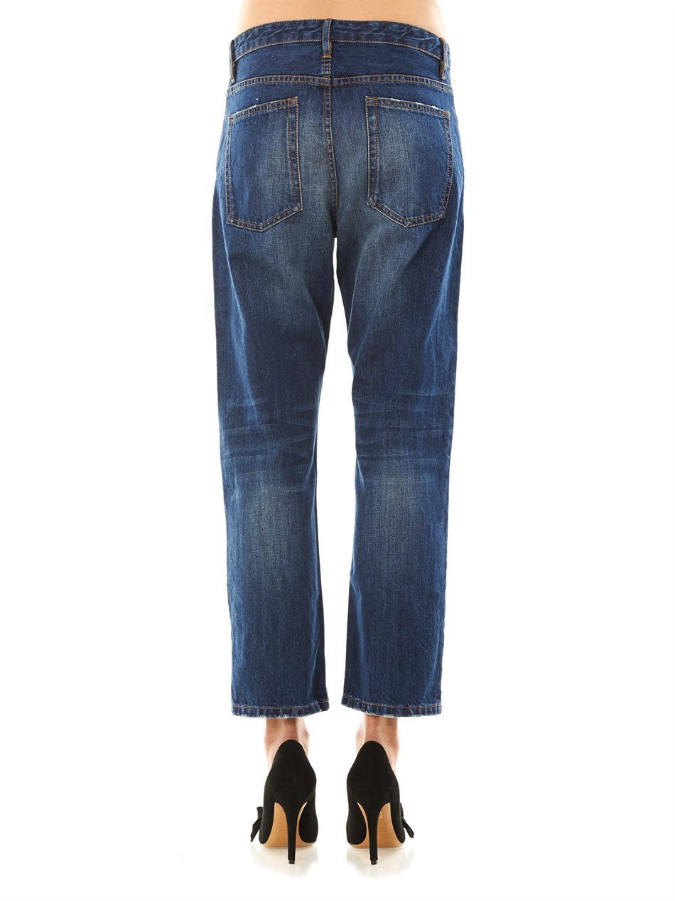Étoile isabel marant Pearson Highrise Boyfriend Jeans in Blue | Lyst