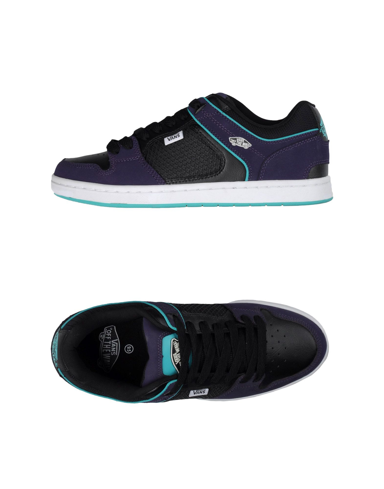 lyst vans low tops trainers in purple for men. Black Bedroom Furniture Sets. Home Design Ideas