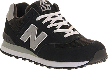 new balance 574 grey trainers black